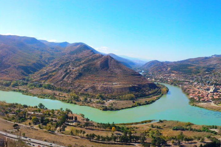 Фотография Панорама с Джвари - Обзорная Автобусная Экскурсия Тбилиси - Мцхета - Джвари с туристической компанией Hop On Hop Off Tbilisi
