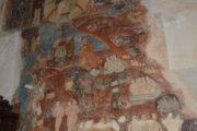 Фотография Очень интересная Роспись на стене в церкви Успения в Ананури во время Экскурсии в Казбеги по Военно-Грузинской дороге Ананури - Гудаури - Казбеги с компанией Hop on Hop off Tbilisi
